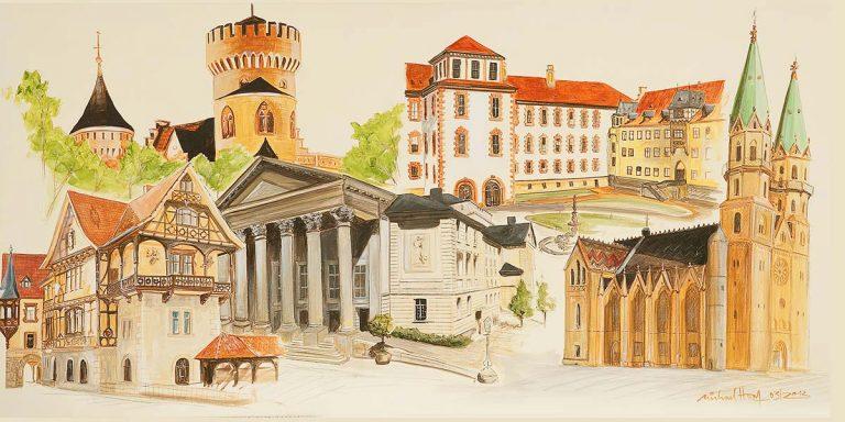 Stadtansichten Meiningen, M. Hopf