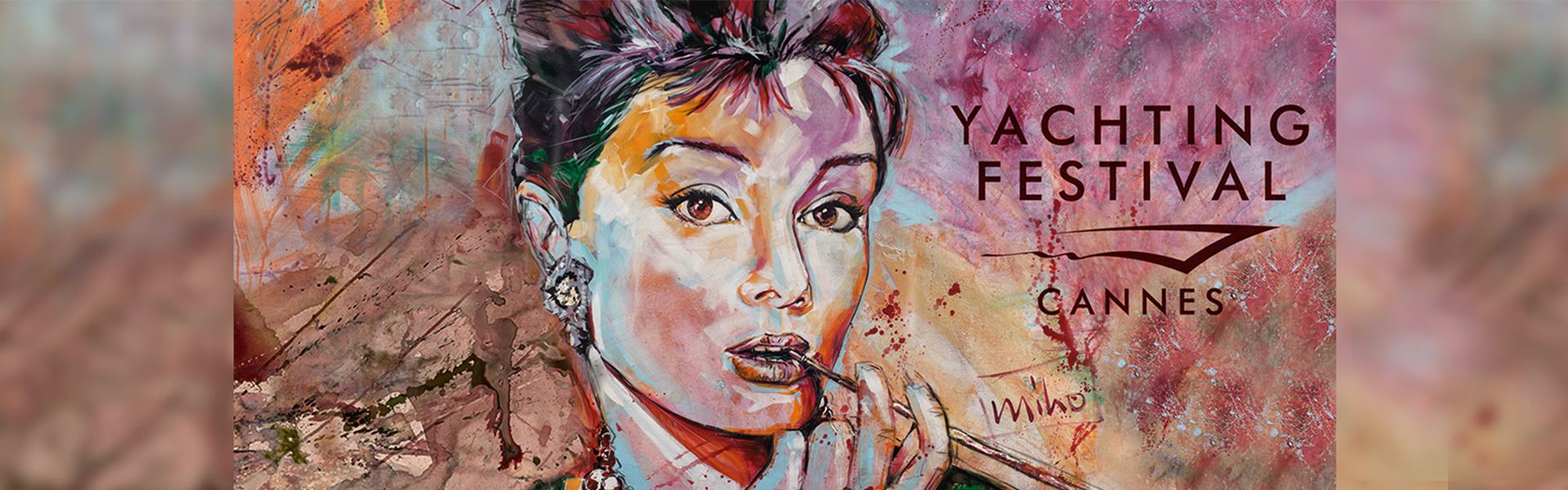 miho's Homage to Audrey Hepburn; Cover for the artists participation at the 2021 Cannes Yachting Festival