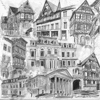 Stadtansichten 1 schwarz/grau, M. Hopf