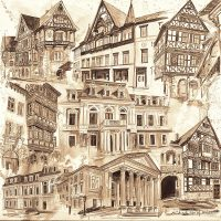 Stadtansichten 1 sepia, M. Hopf