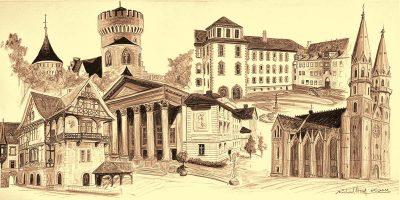 Stadtansichten 3 sepia, M. Hopf