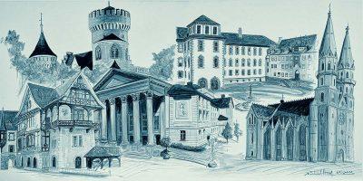 Stadtansichten 3 blau, M. Hopf
